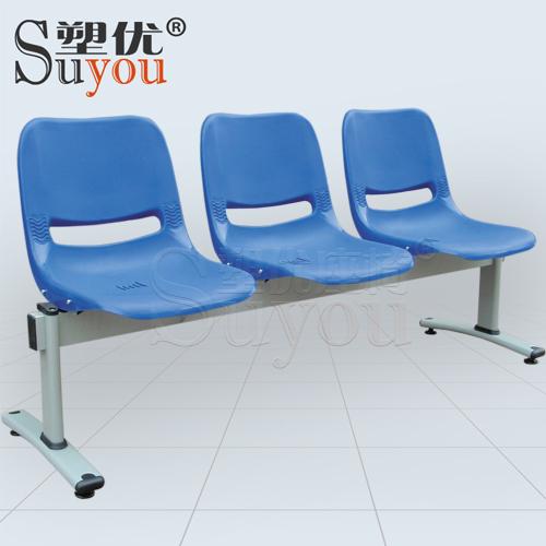 3人位排椅4人塑料排椅2位塑钢等候椅选装桌板扶手 05P