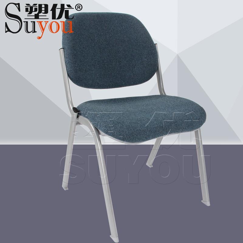 加厚海棉软包座背办公椅可选颜色布/皮面会议椅堆落层叠SY3104